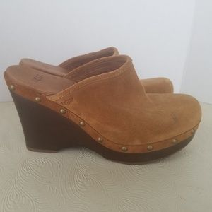 UGG Australia studded tan clogs
